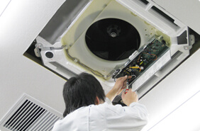 エアコン取外工事画像